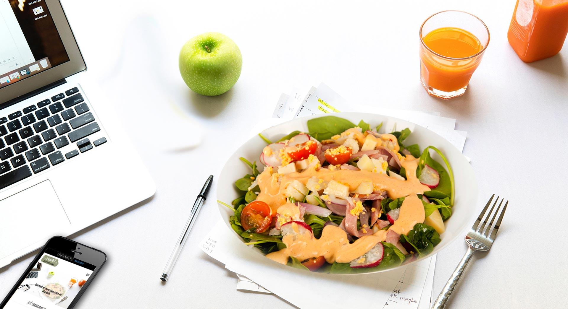 Qué fácil es comer sano y rico en el trabajo